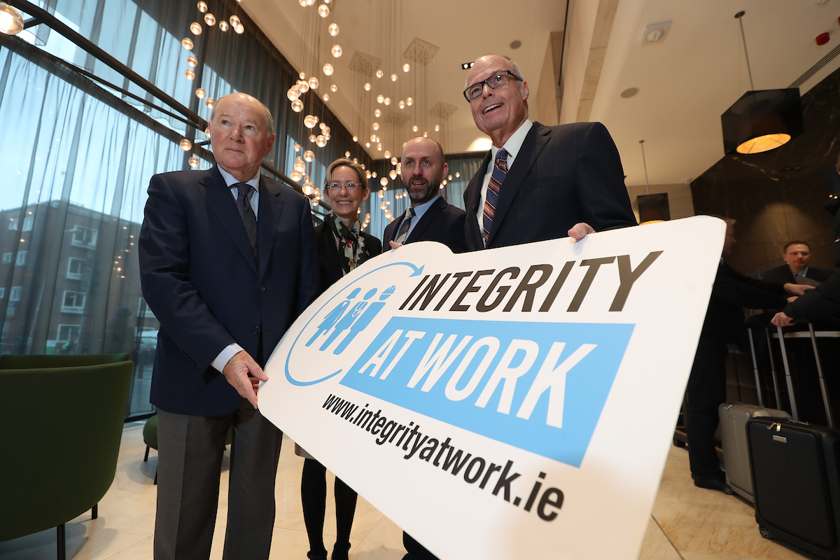 Justice John Hedigan, Chair, Irish Banking Culture Board; Caoimhe de Barra, CEO, Trócaire; John Devitt, CEO, Transparency International Ireland; Richard Bowen, Citigroup whistleblower and business ethics speaker